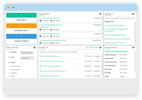 Real-time Project Dashboard